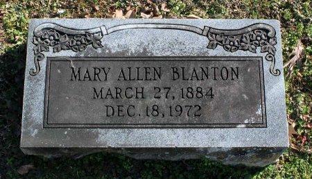BLANTON, MARY - Cumberland County, Virginia | MARY BLANTON - Virginia Gravestone Photos