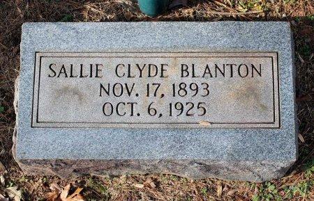 CLYDE BLANTON, SALLIE - Cumberland County, Virginia   SALLIE CLYDE BLANTON - Virginia Gravestone Photos