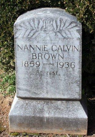 CALVIN BROWN, NANNIE - Cumberland County, Virginia | NANNIE CALVIN BROWN - Virginia Gravestone Photos