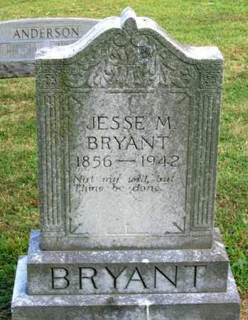 BRYANT, JESSE M. - Cumberland County, Virginia   JESSE M. BRYANT - Virginia Gravestone Photos