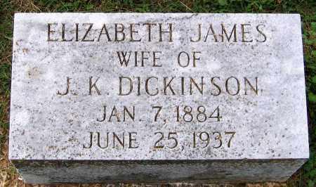 JAMES DICKINSON, ELIZABETH - Cumberland County, Virginia | ELIZABETH JAMES DICKINSON - Virginia Gravestone Photos