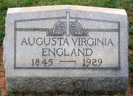 ENGLAND, AUGUSTA VIRGINIA - Cumberland County, Virginia | AUGUSTA VIRGINIA ENGLAND - Virginia Gravestone Photos