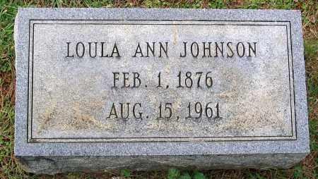 JOHNSON, LOULA ANN - Cumberland County, Virginia | LOULA ANN JOHNSON - Virginia Gravestone Photos