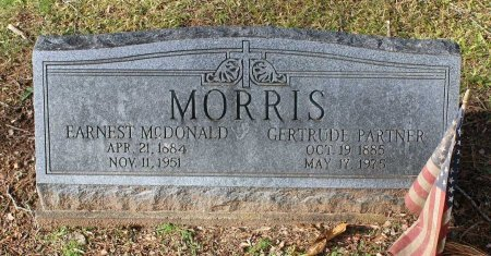 PARTNER MORRIS, GERTRUDE - Cumberland County, Virginia | GERTRUDE PARTNER MORRIS - Virginia Gravestone Photos