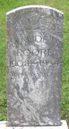 POORE, MAUDE S. - Cumberland County, Virginia | MAUDE S. POORE - Virginia Gravestone Photos