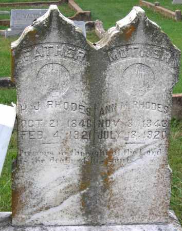 RHODES, ANN M. - Cumberland County, Virginia | ANN M. RHODES - Virginia Gravestone Photos