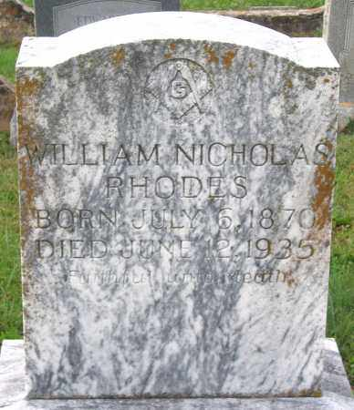 RHODES, WILLIAM NICHOLAS - Cumberland County, Virginia | WILLIAM NICHOLAS RHODES - Virginia Gravestone Photos