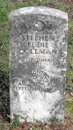 COLEMAN, STEPHEN EDDIE - Dinwiddie County, Virginia   STEPHEN EDDIE COLEMAN - Virginia Gravestone Photos