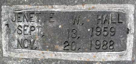 HALL, JENETTE W. - Dinwiddie County, Virginia | JENETTE W. HALL - Virginia Gravestone Photos