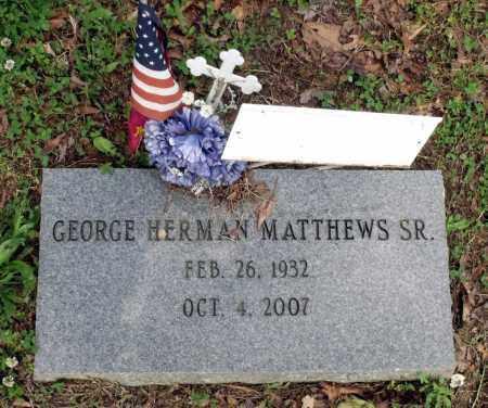 MATTHEWS, GEORGE HERMAN SR. - Dinwiddie County, Virginia   GEORGE HERMAN SR. MATTHEWS - Virginia Gravestone Photos