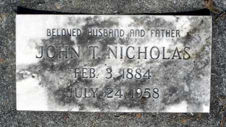 NICHOLAS, JOHN T. - Dinwiddie County, Virginia   JOHN T. NICHOLAS - Virginia Gravestone Photos