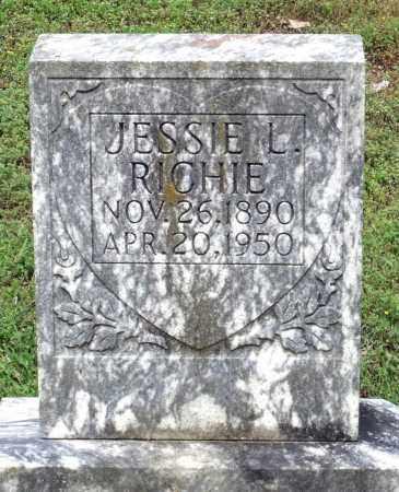RICHIE, JESSIE L. - Dinwiddie County, Virginia   JESSIE L. RICHIE - Virginia Gravestone Photos