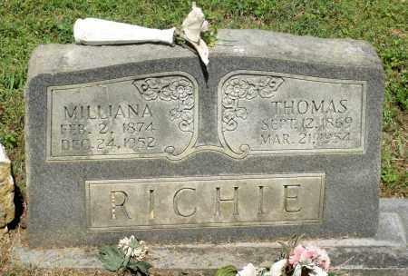 RICHIE, MILLIANA - Dinwiddie County, Virginia | MILLIANA RICHIE - Virginia Gravestone Photos