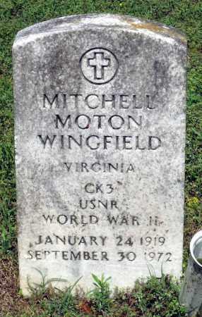 WINGFIELD, MITCHELL MOTON - Dinwiddie County, Virginia   MITCHELL MOTON WINGFIELD - Virginia Gravestone Photos