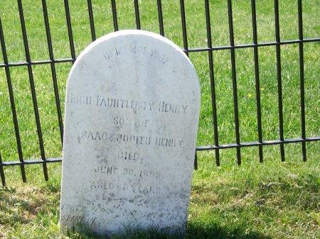 HENRY, HUGH FAUNTLEROY - Fairfax County, Virginia   HUGH FAUNTLEROY HENRY - Virginia Gravestone Photos