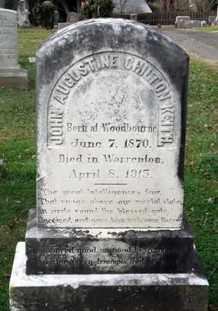 KEITH, JOHN AUGUSTINE CHILTON - Fauquier County, Virginia   JOHN AUGUSTINE CHILTON KEITH - Virginia Gravestone Photos
