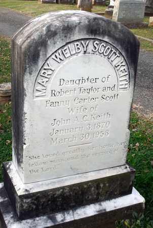 KEITH, MARY WELBY - Fauquier County, Virginia | MARY WELBY KEITH - Virginia Gravestone Photos