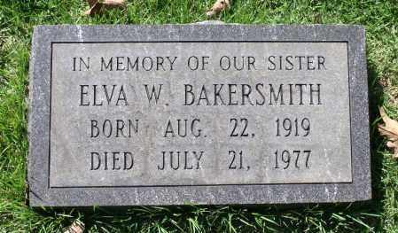 BAKERSMITH, ELVA W. - Fluvanna County, Virginia | ELVA W. BAKERSMITH - Virginia Gravestone Photos
