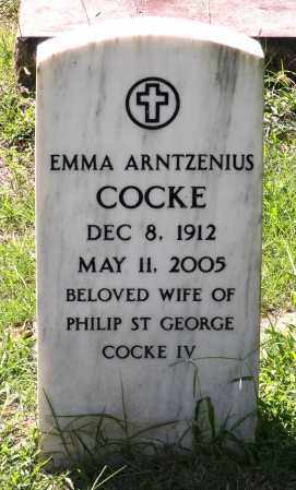 COCKE, EMMA ARNTZENIUS - Fluvanna County, Virginia | EMMA ARNTZENIUS COCKE - Virginia Gravestone Photos