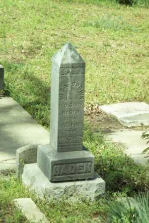 HADEN, CORA BROWN - Fluvanna County, Virginia   CORA BROWN HADEN - Virginia Gravestone Photos