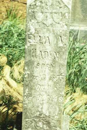 HADEN, ELLA V - Fluvanna County, Virginia   ELLA V HADEN - Virginia Gravestone Photos