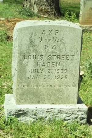 HADEN, LOUIS STREET - Fluvanna County, Virginia | LOUIS STREET HADEN - Virginia Gravestone Photos