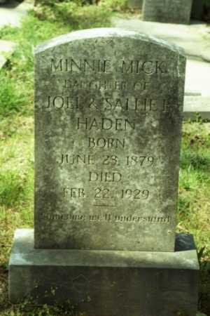 HADEN, MINNIE MICK - Fluvanna County, Virginia | MINNIE MICK HADEN - Virginia Gravestone Photos