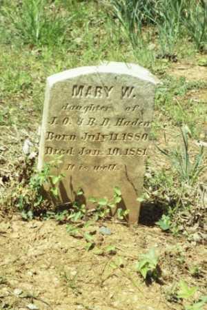 HADEN, MARY W - Fluvanna County, Virginia | MARY W HADEN - Virginia Gravestone Photos