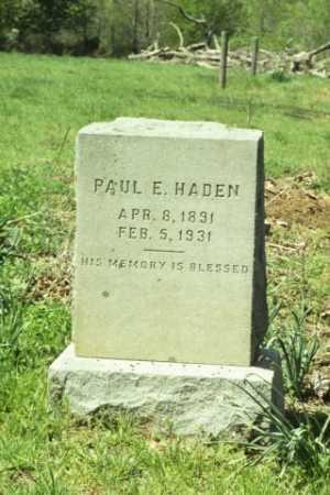 HADEN, PAUL E - Fluvanna County, Virginia | PAUL E HADEN - Virginia Gravestone Photos
