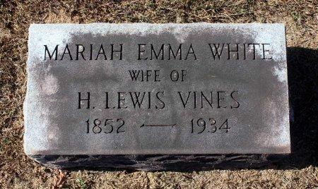 WHITE VINES, MARIAH EMMA - Fluvanna County, Virginia | MARIAH EMMA WHITE VINES - Virginia Gravestone Photos