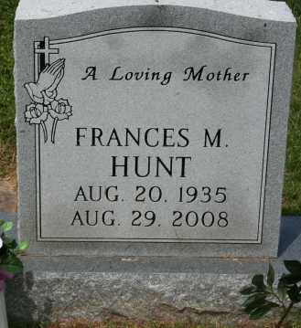 HUNT, FRANCES - Franklin County, Virginia | FRANCES HUNT - Virginia Gravestone Photos
