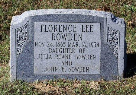 BOWDEN, FLORENCE LEE - Gloucester County, Virginia | FLORENCE LEE BOWDEN - Virginia Gravestone Photos