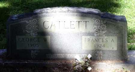 CATLETT, FRANCES A. - Gloucester County, Virginia | FRANCES A. CATLETT - Virginia Gravestone Photos