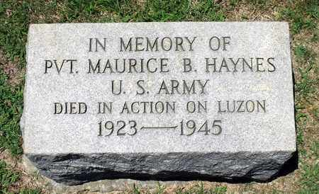 HAYNES, MAURICE B. - Gloucester County, Virginia   MAURICE B. HAYNES - Virginia Gravestone Photos