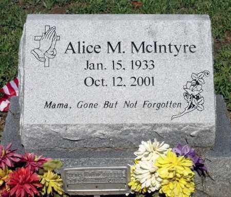 MCINTYRE, ALICE M. - Gloucester County, Virginia | ALICE M. MCINTYRE - Virginia Gravestone Photos