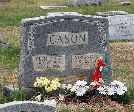 CASON, CLEMONS W. - Greene County, Virginia | CLEMONS W. CASON - Virginia Gravestone Photos