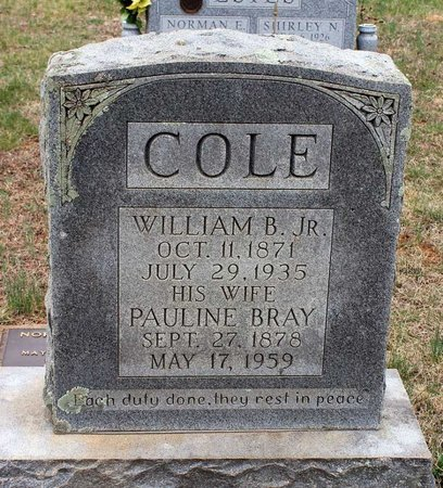 COLE, PAULINE - Greene County, Virginia | PAULINE COLE - Virginia Gravestone Photos