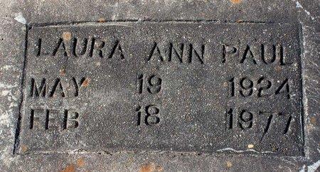 PAUL, LAURA ANN - Greensville County, Virginia | LAURA ANN PAUL - Virginia Gravestone Photos
