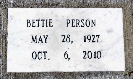PERSON, BETTIE - Greensville County, Virginia | BETTIE PERSON - Virginia Gravestone Photos
