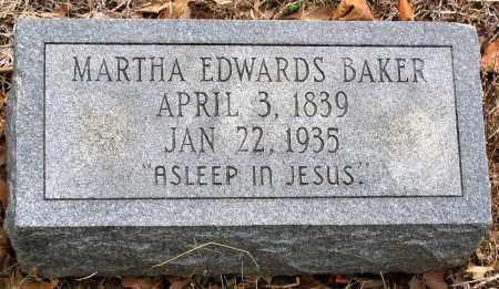 BAKER, MARTHA EDWARDS - Hanover County, Virginia | MARTHA EDWARDS BAKER - Virginia Gravestone Photos