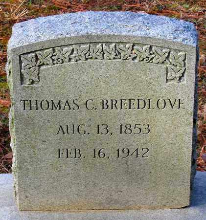 BREEDLOVE, THOMAS C. - Hanover County, Virginia | THOMAS C. BREEDLOVE - Virginia Gravestone Photos