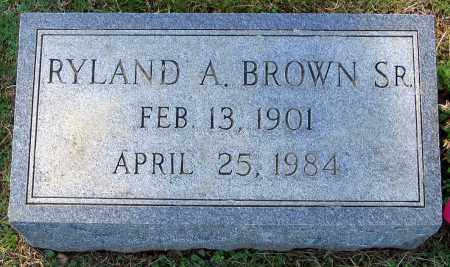 BROWN, RYLAND A. - Hanover County, Virginia | RYLAND A. BROWN - Virginia Gravestone Photos