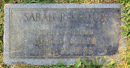 BROWN, SARAH R. - Hanover County, Virginia | SARAH R. BROWN - Virginia Gravestone Photos