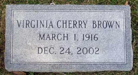 BROWN, VIRGINIA CHERRY - Hanover County, Virginia | VIRGINIA CHERRY BROWN - Virginia Gravestone Photos