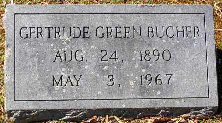 BUCHER, GERTRUDE GREEN - Hanover County, Virginia   GERTRUDE GREEN BUCHER - Virginia Gravestone Photos