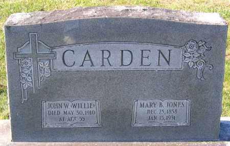 CARDEN, JOHN W. - Hanover County, Virginia | JOHN W. CARDEN - Virginia Gravestone Photos
