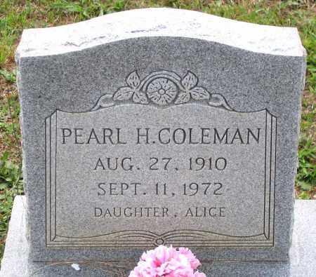 COLEMAN, PEARL H. - Hanover County, Virginia   PEARL H. COLEMAN - Virginia Gravestone Photos