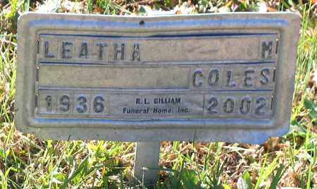 COLES, LEATHA M. - Hanover County, Virginia | LEATHA M. COLES - Virginia Gravestone Photos