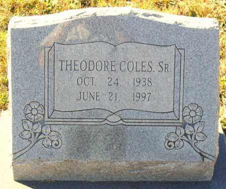 COLES, THEODORE, SR. - Hanover County, Virginia   THEODORE, SR. COLES - Virginia Gravestone Photos