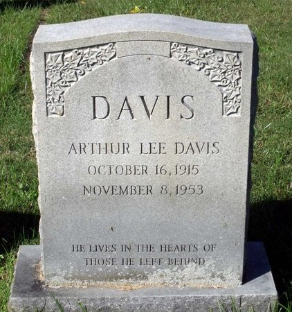 DAVIS, ARTHUR LEE - Hanover County, Virginia | ARTHUR LEE DAVIS - Virginia Gravestone Photos